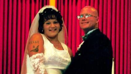 Kelly Cochran's wedding night photograph