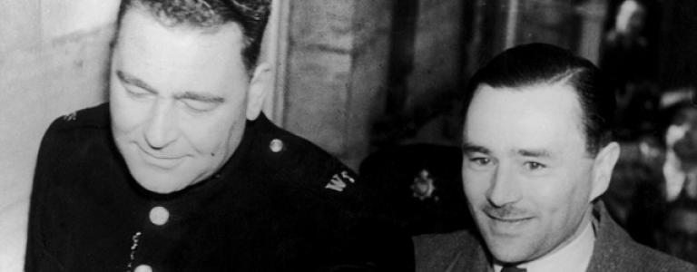 Middle class mass murderer vampire John Haigh is born