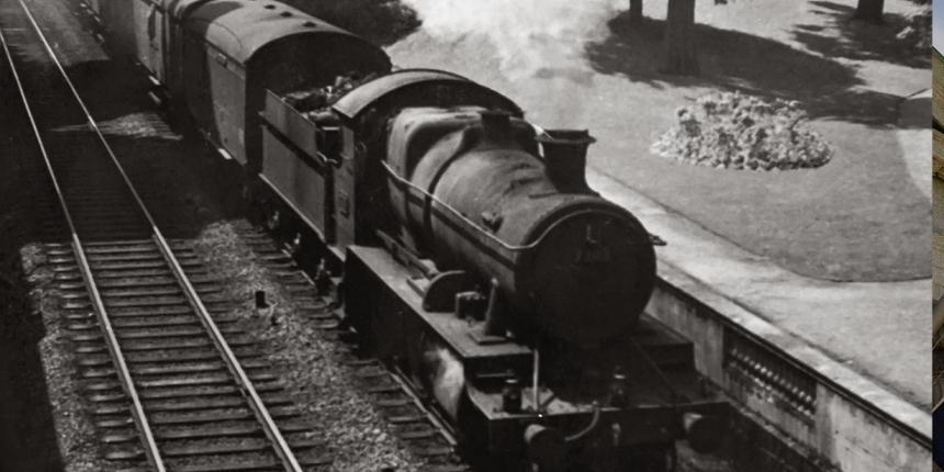 A photo of a steam train
